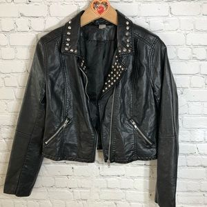 H&M Divided Studded Moto Jacket was 10